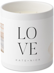 love stacked watercolor ceramic candle