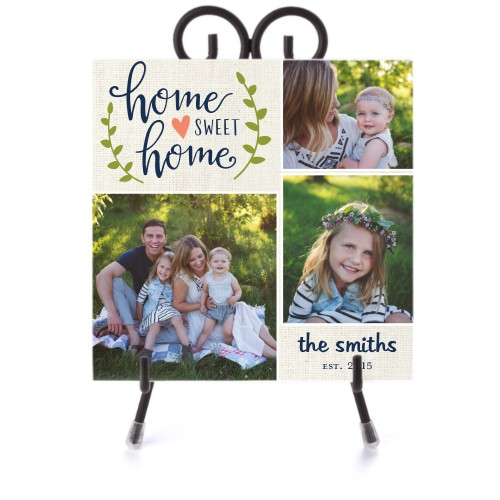 Home Sweet Home Ceramic Tile, glossy, 6x6, DynamicColor