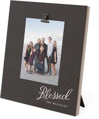 blessed script clip photo frame
