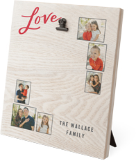 love script collage clip photo frame