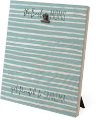 organic stripes clip photo frame