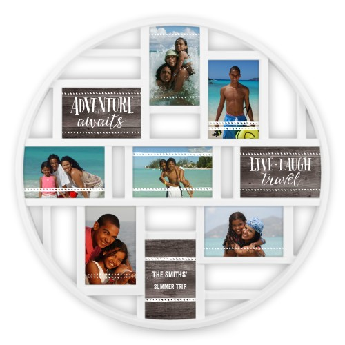 Live Laugh Travel 9 Circle Collage Frame | Collage Picture Frames ...