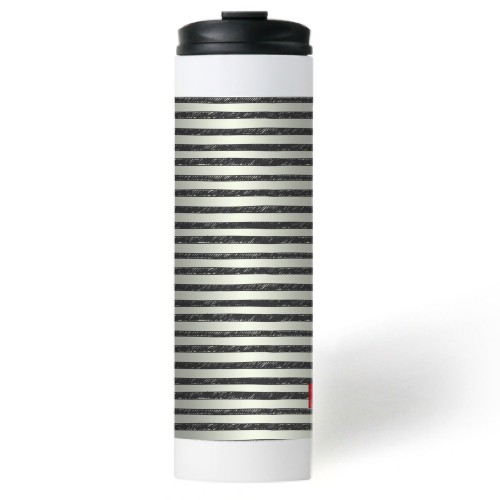 My Stripes Stainless Steel Travel Mug, White,  , 20 oz, Multicolor