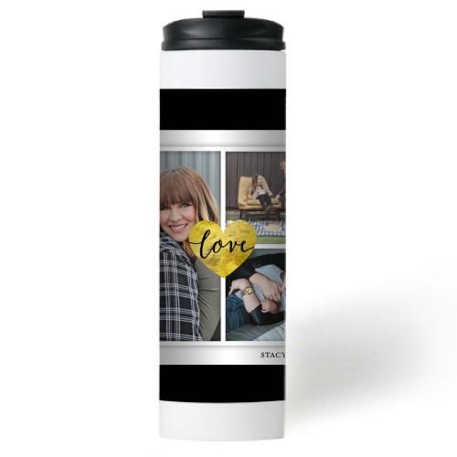 Love Stripes Stainless Steel Travel Mug