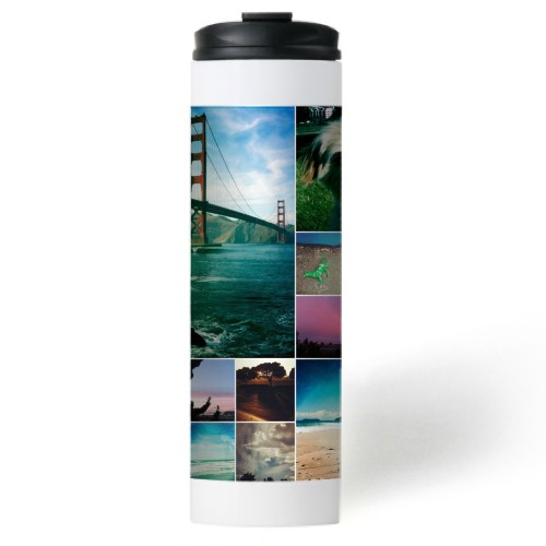 Collage Squares Stainless Steel Travel Mug