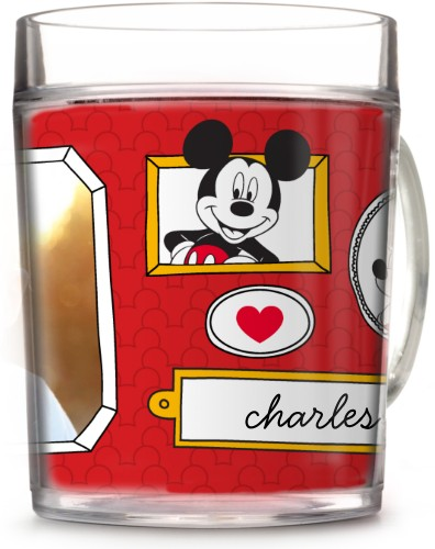 Disney Mickey And Friends Cup, 12oz Cup, Red