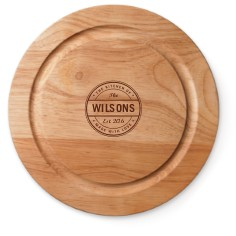 family stamp cutting board