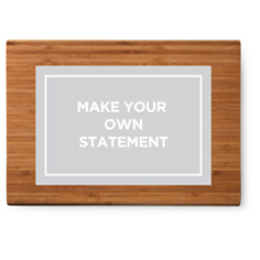 make your own statement cutting board