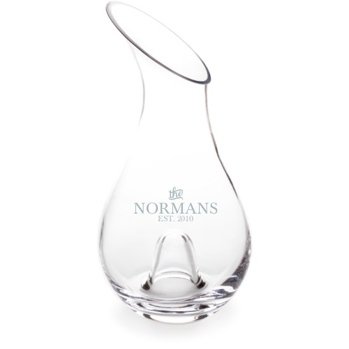 Stately Name Decanter, Decanter Single Side, Glass, White