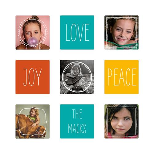 Mini Love Joy Peace 5x5 Metal Prints
