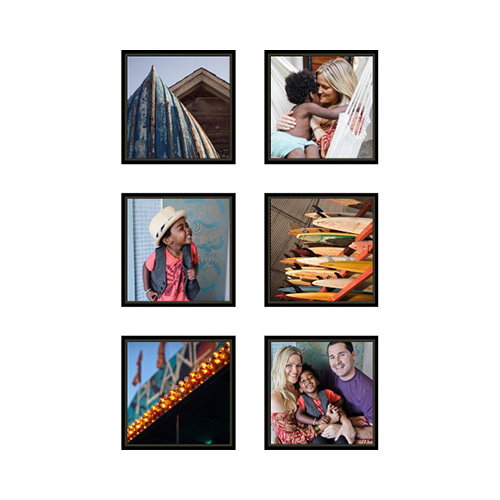 Two By Three Stacked Mounted Wall Art, Multi piece, Black, Multicolor