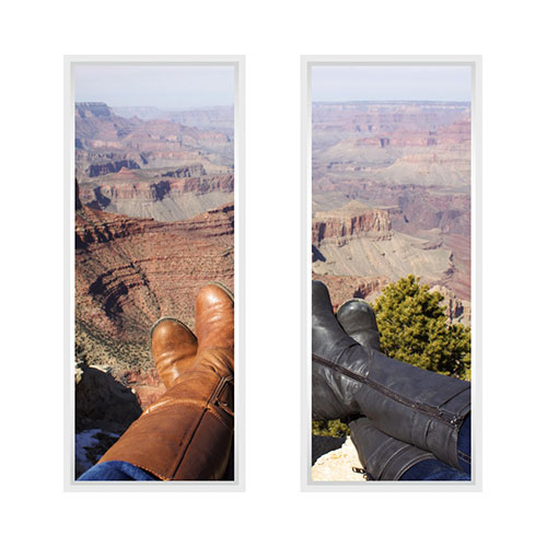 Two Panoramic 10x24 Spread Mounted Wall Art Home Decor