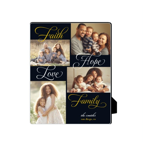 Faith And Family Desktop Plaque, Rectangle, 8 x 10 inches, Black