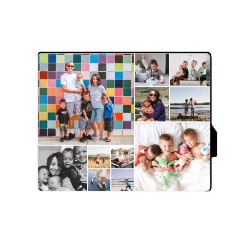 Collage Squares Horizontal Desktop Plaque