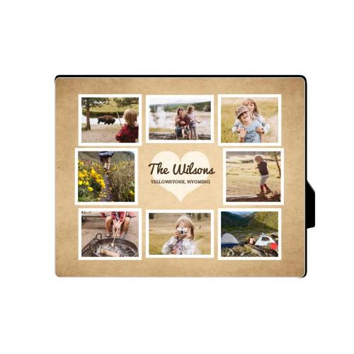 Heart Craft Desktop Plaque, Rectangle, 8 x 10 inches, Brown