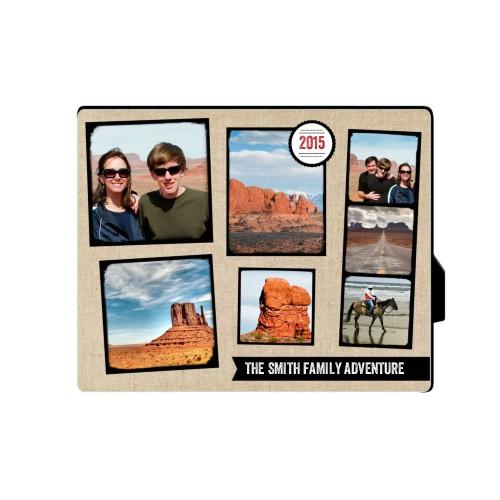 Full Of Adventure Desktop Plaque, Rectangle, 8 x 10 inches, Beige