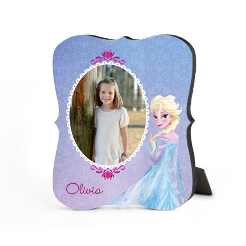 Disney Frozen Elsa Desktop Plaque, Bracket, 8 x 10 inches, Purple