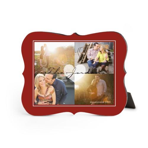 Classic Heart Desktop Plaque, Bracket, 8 x 10 inches, DynamicColor
