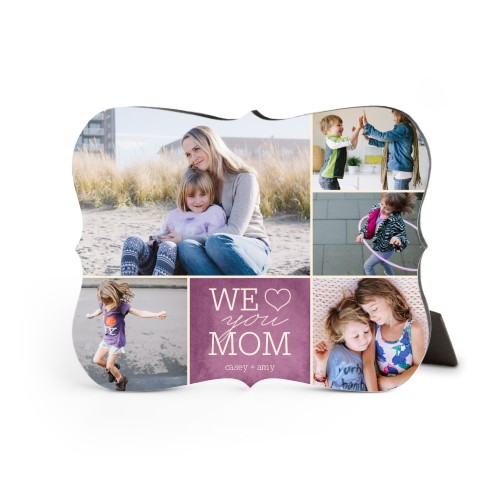 We Heart Mom Desktop Plaque, Bracket, 8 x 10 inches, DynamicColor