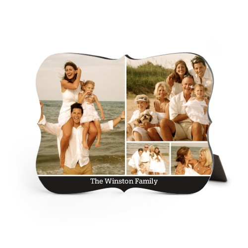 Simply Family Desktop Plaque, Bracket, 8 x 10 inches, Black