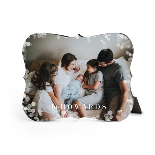 Bokeh Frame Desktop Plaque, Bracket, 8 x 10 inches, White