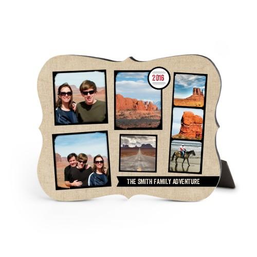 Full Of Adventure Desktop Plaque, Bracket, 8 x 10 inches, Beige