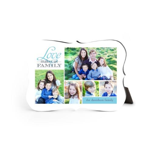 Love Makes Us Family Desktop Plaque