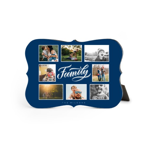 Family All Around Collage Desktop Plaque, Bracket, 5 x 7 inches, Blue
