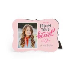princess follow your heart desktop plaque