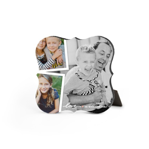 Simply Love Desktop Plaque, Bracket, 5 x 5 inches, White