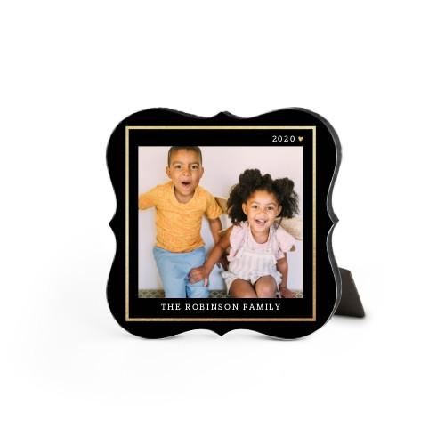 Simply Elegant Frame Desktop Plaque, Bracket, 5 x 5 inches, Black