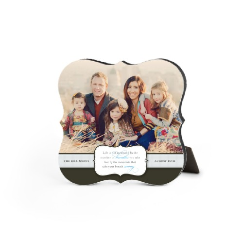 Special Moments Desktop Plaque, Bracket, 5 x 5 inches, Brown
