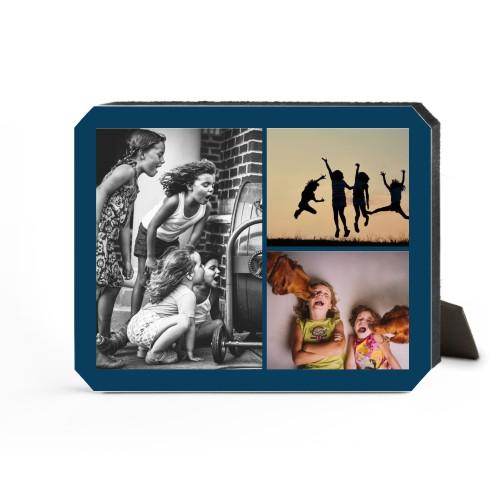 Gallery of Three Desktop Plaque, Ticket, 8 x 10 inches, Blue