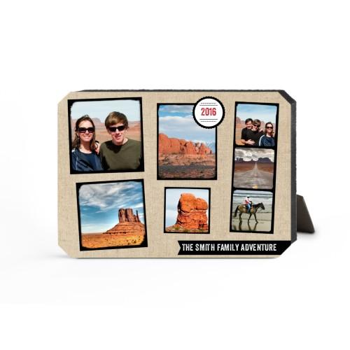 Full Of Adventure Desktop Plaque, Ticket, 5 x 7 inches, Beige
