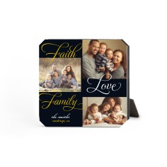 faith and family desktop plaque