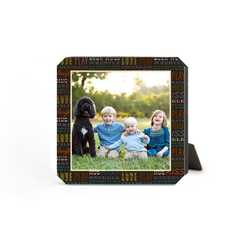 Family Moments Desktop Plaque, Ticket, 5 x 5 inches, Multicolor