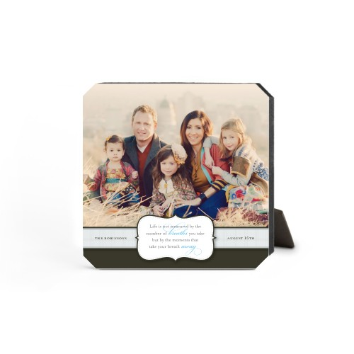 Special Moments Desktop Plaque, Ticket, 5 x 5 inches, Brown