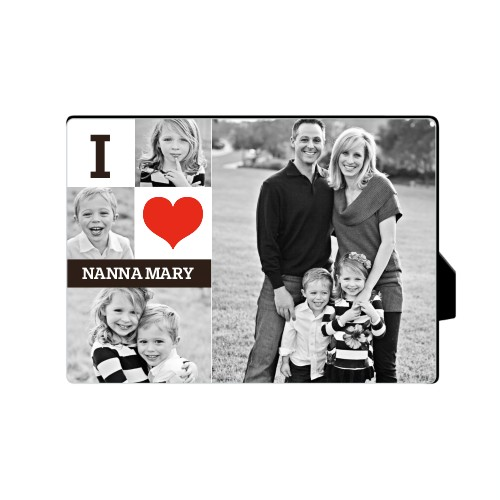 I Heart You Desktop Plaque, Rectangle, 5 x 7 inches, DynamicColor