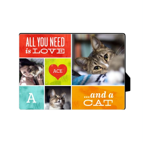 Love and a Cat Desktop Plaque