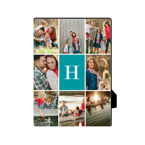 Gallery Monogram Desktop Plaque, Rectangle, 5 x 7 inches, Multicolor
