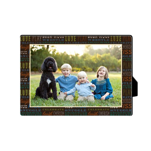 Family Moments Desktop Plaque, Rectangle, 5 x 7 inches, Multicolor