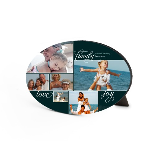 Family Sentiments Oval Desktop Plaque, Oval, 6 x 8.5 inches, Black