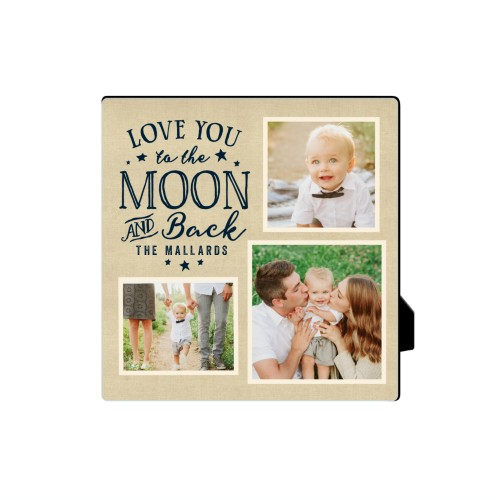 To The Moon Script Desktop Plaque