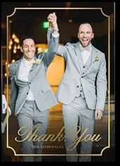 framed appreciation thank you card