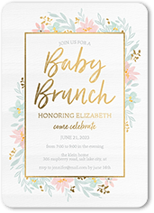 baby brunch baby shower invitation