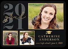 elegant year graduation announcement