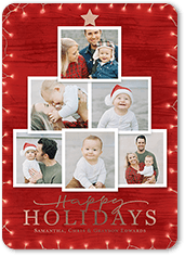 photo tree holiday card