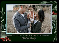 big floral frame holiday card