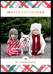 plaid merry vibes christmas card
