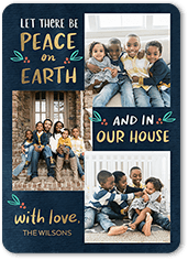 let there be peace religious christmas card